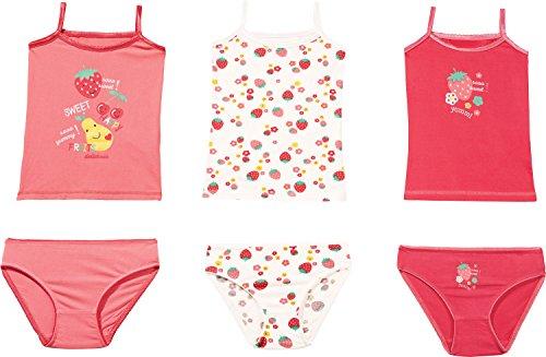 Kinderbutt Unterwäsche-Set 6-TLG. mit Druckmotiv Single-Jersey pink-bunt Größe 110/116