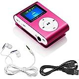 Swees® MINI LECTEUR MP3 ECRAN LCD 4 GO avec Radio FM Rose