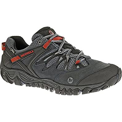 Merrell Mens Allout Blaze Goretex Waterproof Walking Shoes Blue