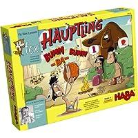 HABA Le jeu chef de tribu Bumm-ba-bumm jouet en bois, multicolore