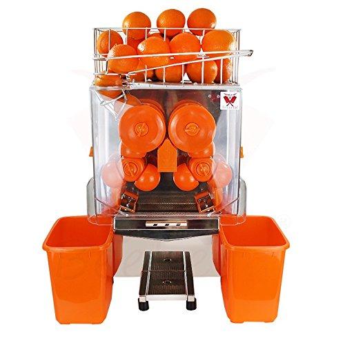 Beeketal \'Essence\' Elektrische Profi Orangensaftpresse automatisch, 20 Orangen pro Minute Durchsatz, passend für Ø 40-95 mm Orangen, Korb für ca. 30 Orangen, Juicer inkl. Zubehör