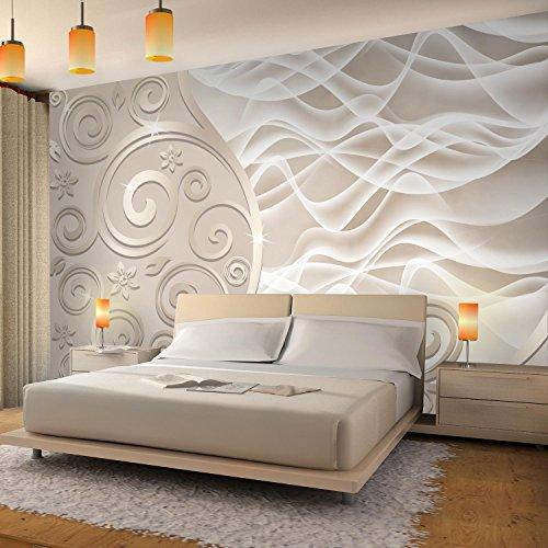 Fototapeten 3D – Abstrakt Beige 352 x 250 cm Vlies Wand Tapete Wohnzimmer  Schlafzimmer Büro Flur Dekoration Wandbilder XXL Moderne Wanddeko – ...