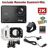 YSILE GitUp Git2 2K 30fps Novatek 96660 1080P WiFi Aktion Sport wasserdichte Kamera DVR (With Extra Mic+Remote Control)