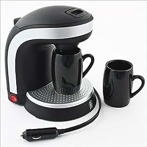 Relaxdays Kaffeemaschine für 12 V Anschluss inklusive 2 Tassen