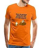 Spreadshirt Ralph Ruthe Weihnachtsmann Männer Premium T-Shirt, 3XL, Orange
