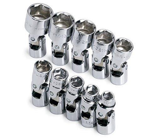 SK 1335 10 Piece 1/4-Inch Drive 6 Point 4-Millimeter to 14-Millimeter Flex Socket Set by SK Hand Tool - Flex Socket Set