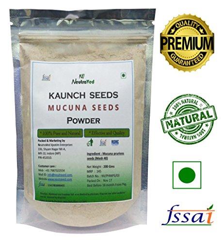 Neutraved Pure Mucuna Seeds / Kaunch Beej Powder - 200...