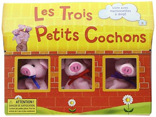 Les Trois Petits Cochons : Livre avec marionnettes à doigt par Robyn Bryant