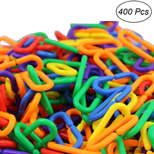 TOYMYTOY Catena in plastica per giocattoli di bambini 400PCS