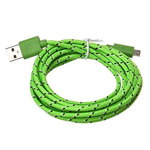 Bluestercool Câble Micro USB, 3M Nylon Tressé USB Câble de Chargeur pour Samsung, Sony, Moto, HTC, Nokia, Smartphone et Plus Encore (A, 3M)