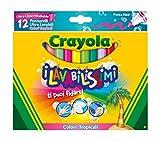 Crayola–58–8335–Les lavabilissimi 12marqueurs, Pointe Maxi, Couleurs Tropicales