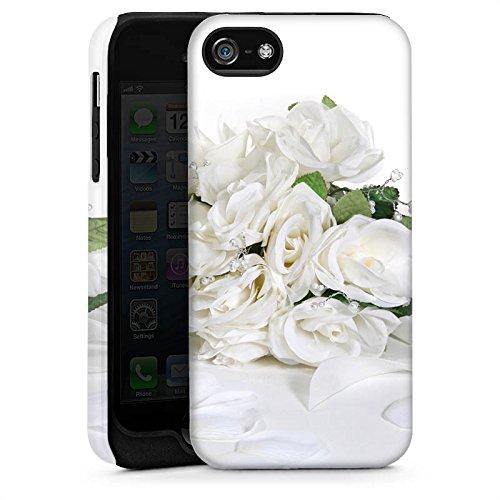Apple iPhone 4 Housse Étui Silicone Coque Protection Bouquet de roses Bouquet de mariage Feuilles de roses Cas Tough brillant