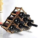 Estante Para Botellas De Vino,Bonito Botellero De Metal,Mueble Vinoteca Manejable Para Botellas De Vino U Otras Bebidas (6 Botellas)