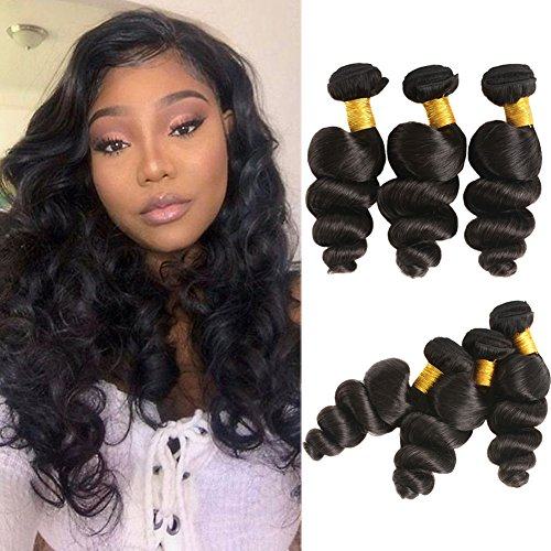 Huarisi Loose Wave Bundles Brazilian Hair 24 26 28 inches Grade 3 Bundles 8a Unprocessed Wet and Wavy Hair Extensions Long Hair Prime -