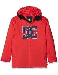 DC Shoes Story Youth - Chaqueta nieve para niño, color rojo, talla S/8 años