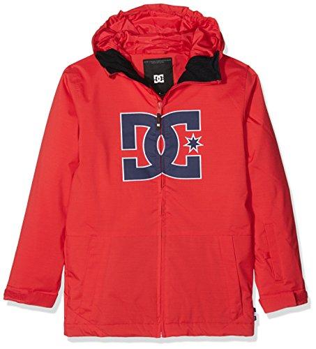 DC Shoes Story Youth - Chaqueta nieve para niño, color rojo, talla M/10 años