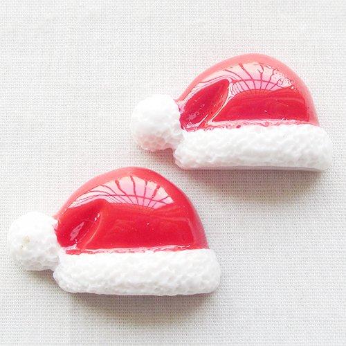chenkou Craft Red Weihnachten Hat Harz Flatback DIY Scrapbooking Craft 15Stück -