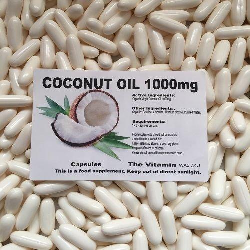 The Vitamin Olio di Cocco Vergine Biologico 1000mg 120 capsule (L)