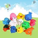 El Niño de 12 ouet animales lindos juguetes de bebé en el agua de baño (lote de 12 piezas por...