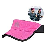 Filfeel Visor Sun Hat, Adjustable Running Cap Women Men Outdoor Jogging Homme Camping Hiking Sports Birthday Festival Gift(Red)