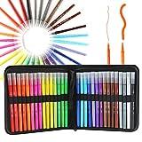 Hethrone 30 Farb-Doppelspitzen-Pinselstifte mit feiner Spitze, Markierstifte für Malbücher, Skizzieren, Malen, Zeichnen, Manga-Mode Design