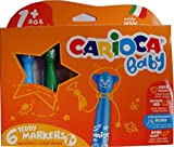 Carioca Jumbo Filzstifte abwaschbar für Kleinkinder mit lustigen Köpfen