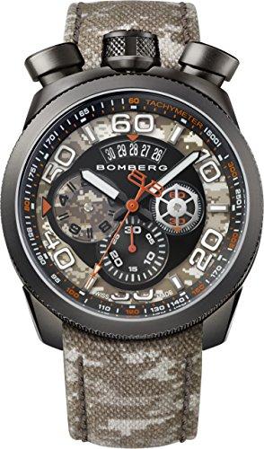 Bomberg Orologio Cronografo Quarzo Uomo con Cinturino in Pelle BS45.018
