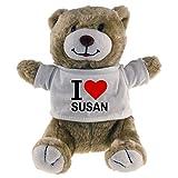 Kuscheltier Bär Classic I Love Susan beige