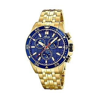 Lotus 8653/3 – Reloj Cronógrafo para Hombre, de Cuarzo con Correa en Acero Inoxidable