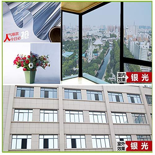 WYLLA Wall Sticker Window Film Mirror Insulation Solar Tint Window Film Stickers Uv Reflective One Way Privacy Decoration for Glass Film,45cmx200cm Reflective Mirror Film