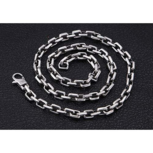 AKAKKFK 925 Sterling Silber Herren Kette Halskette 7MM Breite Halskette Gliederkette Halskette 50 cm-75 cm Männer Frauen,70cm