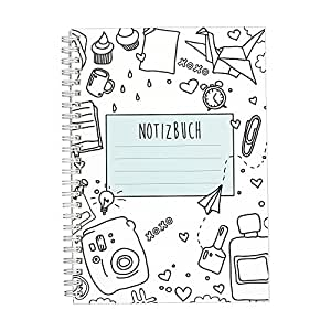 cupcakes kisses notizbuch i ringbuch i liniert i din a5 i wei e spiralbindung i 120 seiten i. Black Bedroom Furniture Sets. Home Design Ideas