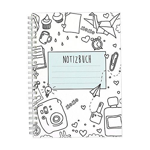 CUPCAKES & KISSES Notizbuch I Ringbuch I liniert I DIN A5 I weiße Spiralbindung I 120 Seiten I für...