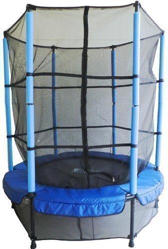 GSD-Kindertrampolin-14443-mit-Netz-blau-schwarz--140-m-fr-absoluten-Indoorspa