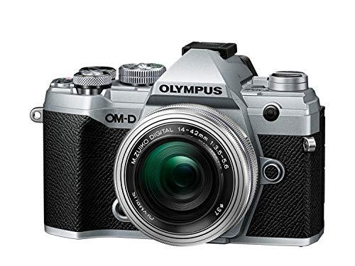 Olympus OM-D E-M5 Mark III Silver Kit Appareil Photo Micro 4/3, capteur 20 MP, stabilisateur d'image 5 axes, AF puissant, vidéo 4K, WLAN, avec objectif M.Zuiko 14-42 mm