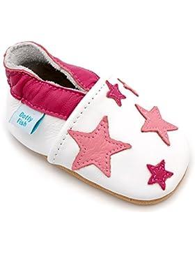 [Patrocinado]Dotty Fish - Zapatos de cuero suave para bebés - Niños y Niñas - Navidad