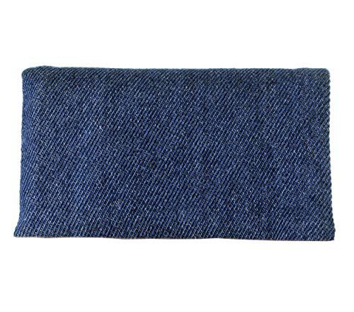 Plan B Tabakbeutel TWODAYS Jeans (11,5 x 7,5 cm) mit EVA-Gummi Tasche Bis mit zu 15 Gramm Tabak Blau. -