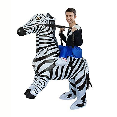 Sxwz Halloween aufblasbare Kleidung, Centaur Orc Adult Cosplay Weihnachten Karneval Eltern-Kind-Performance Party Kostüm,E,150/190cm (Centaur Kostüm Kinder)