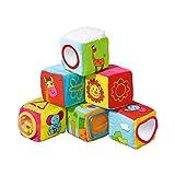 babywalz Stoffwürfel (6er-Pack) / Babyspielzeug / Würfel mit unterschiedlichen Motiven / bunt