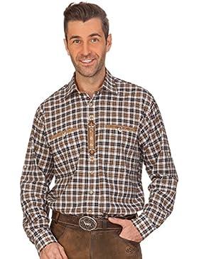 Trachtenhemd mit Langem Arm - Reinhold - Dunkelbraun
