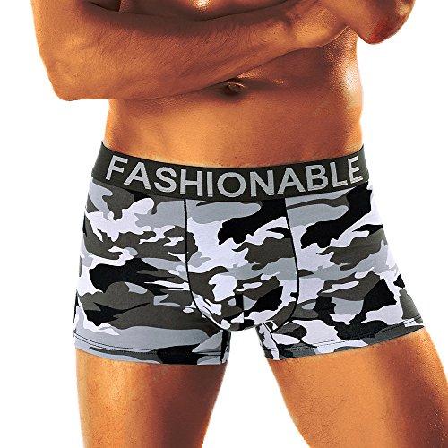 Herren Camouflage Soft Slip Unterhosen Knickers Shorts Sexy Unterwäsche