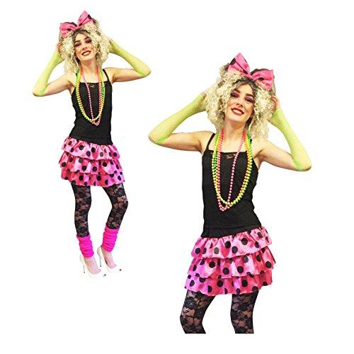 hre 90er Jahre rosa Gaga Madonna RARA Tutu Kit rosa Kostüm Outfit Kostüm ()