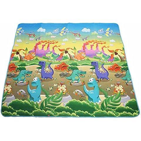 El engrosamiento de picnic esteras del cojín a prueba de humedad al aire libre impermeable de la estera que acampa Beach alfombra de picnic esteras de paja niños de la estera estera de arrastre ( Color : 2