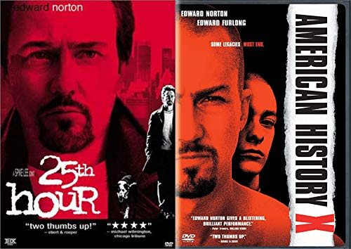 Crazy Violent Eddy Double Feature: 25th Hour & American History X (2 DVD Bundle) Spike Lee
