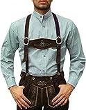 Trachtenhemd mit Stehkragen für Trachtenlederhosen Grün/kariert, Hemdgröße:L