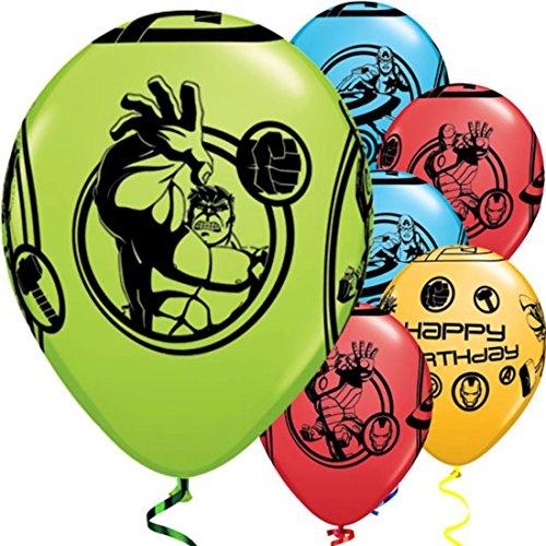 Avengers Zusammenstellung Alles Gute Zum Geburtstag 27.9cm Qualatex Latex Ballons x 5
