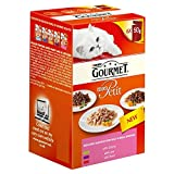 Purina Gourmet Mon Petit with Beef Game and Liver Adult Wet Cat Food, 300g (Pack of 6)
