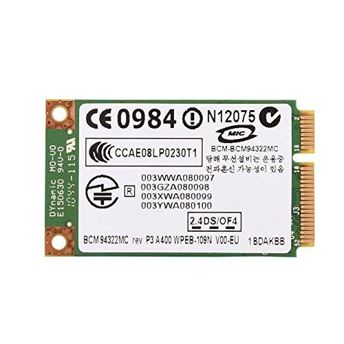 Richer-R PCI-E WiFi Karte, 2,4 GHz + 5 GHz Dual-Band Mini PCI-E WLAN Karte Adapter,802.11A / G/N Wireless WLAN Karte 300 Mbit/s für HP/MAC/Dell/Acer usw.