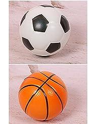 EQLEF Balle de Balle de Balle d'élastique de Ballon D'enfants de Petite Balle D'enfants DE 2 Pcs
