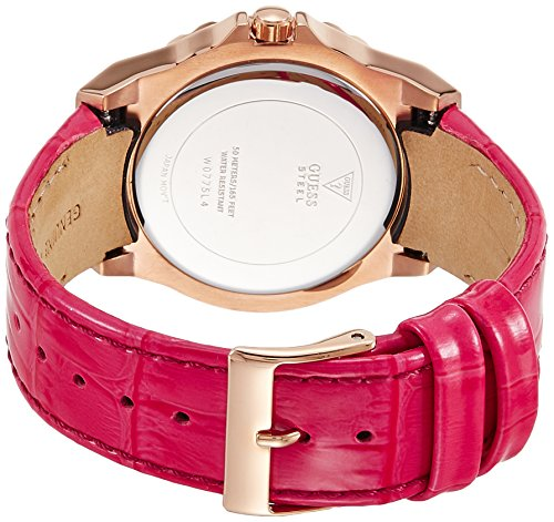 Guess Womens Analogue Quartz Watch with Leather Strap W0775L4